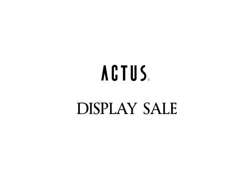 ACTUS(アクタス)、最大50%オフの展示品セール開催