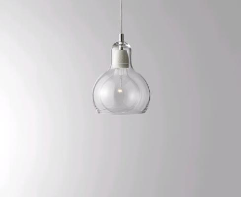 吹きガラス+裸電球