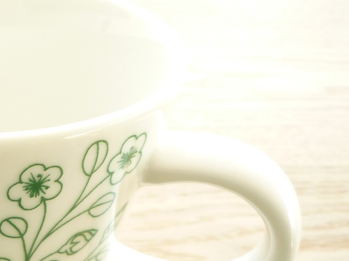 いただきもののカフェオレカップ