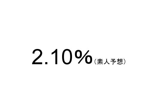 素人予想…11月のフラット35金利は2.10%?