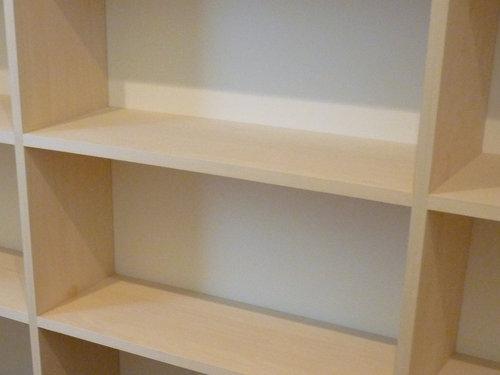 壁一面の本棚が出来ました~建築工程レポート