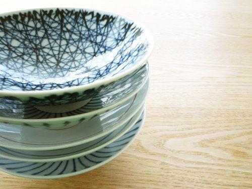 白山陶器の平茶碗、まとめて5客買いました