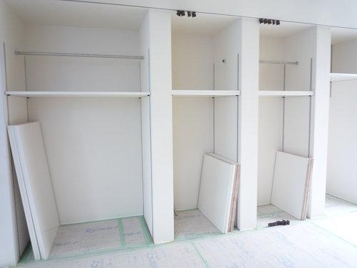 壁面収納が出来てきました~建築工程レポート