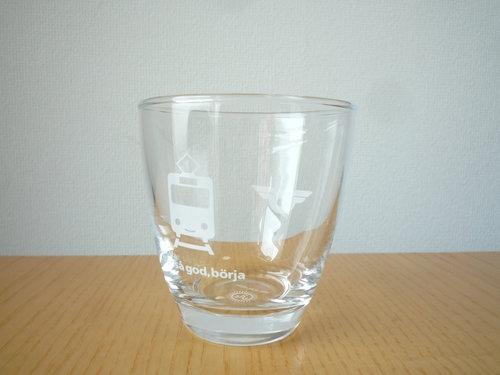 伊勢丹のワールドロゴデザインマーケットでスウェーデン鉄道のグラスを買いました