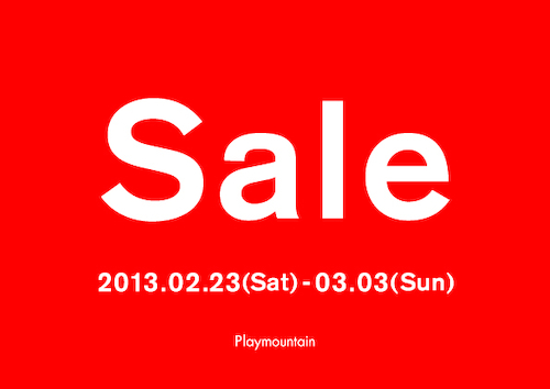 Playmountain Sale 201302
