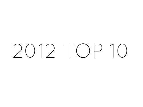 2012年に見ていただいたベスト10本