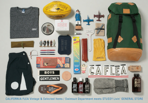CALIFORNIA FLEA Vintage & Selected Items Swimsuit Department meets STUSSY Livin GENERAL STORE