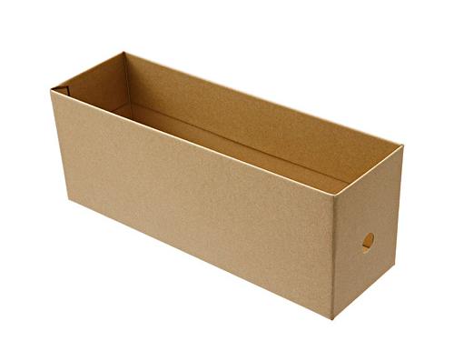 無印良品のダンボールファイルボックス・ハーフ、数量限定で復刻