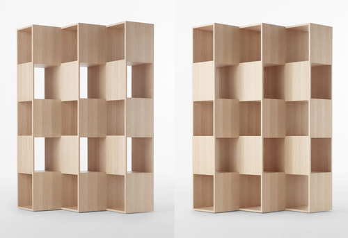 nendo-wooden fold shelf for conde house_001