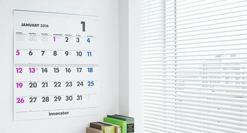 innovatorのカレンダーもカッコイイ
