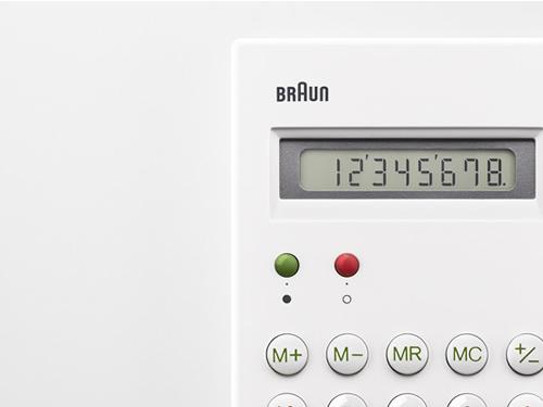 復刻したBRAUN(ブラウン)の名作電卓「ET66」に今度はホワイトモデルが!