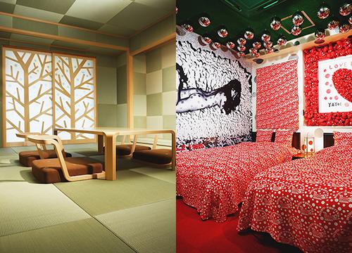 草間彌生や皆川明デザインの客室公開「道後オンセナート2014」