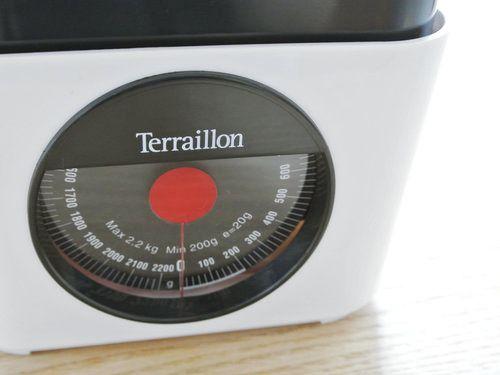 Terraillonキッチンスケールのレッドが廃番だそうです