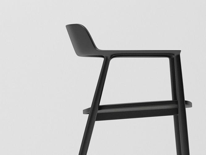 maruni hiroshima chair black