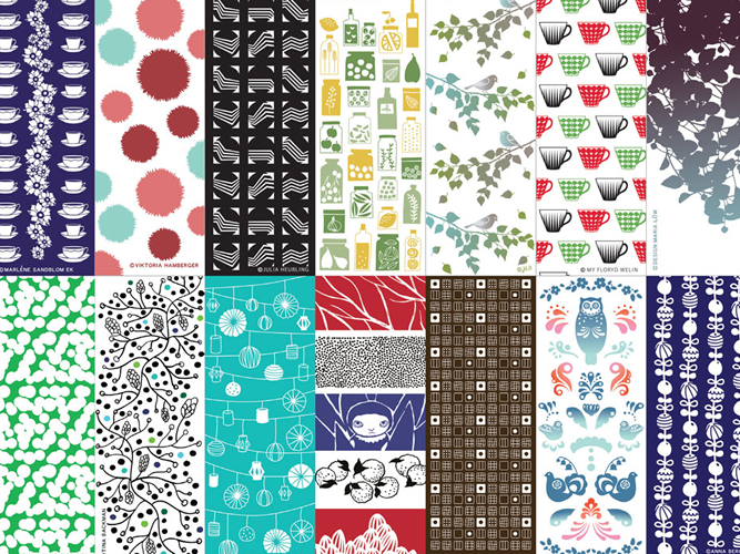 tenugui_Scandinavian Pattern Collection