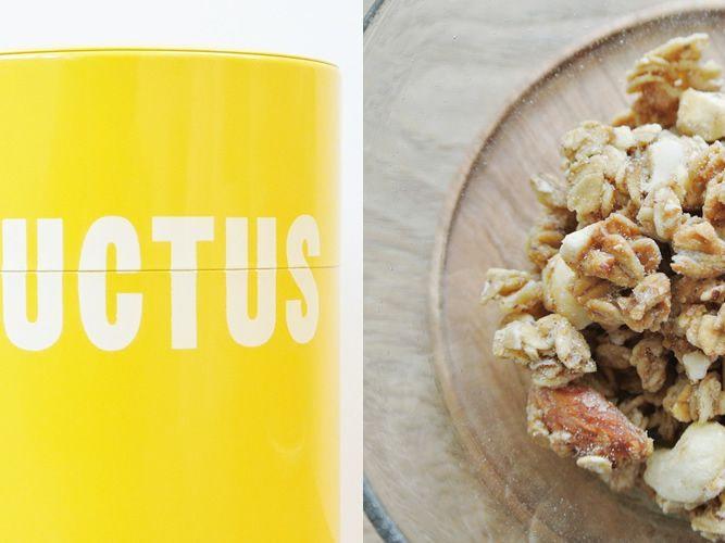Fructus(フラクタス)新ロゴのグラノーラ缶