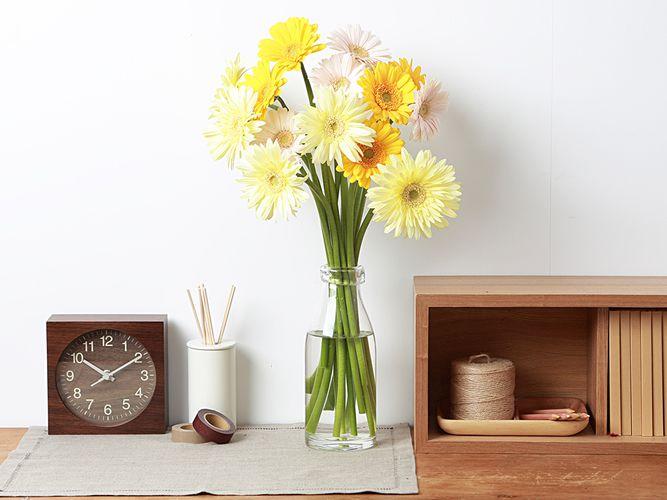 Muji milk bottle flower vase 003