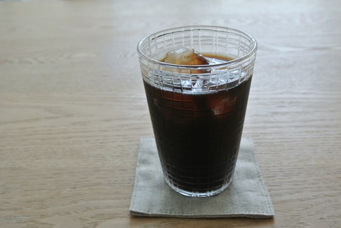 factory zoomer(辻和美)の「ミゾレ 普通のコップ(中)」アイスコーヒー