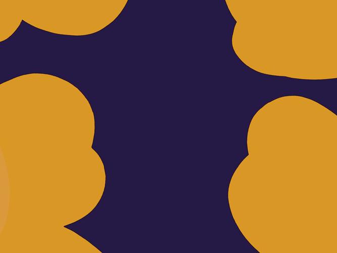 marimekko UNIKKO Violet x yellow