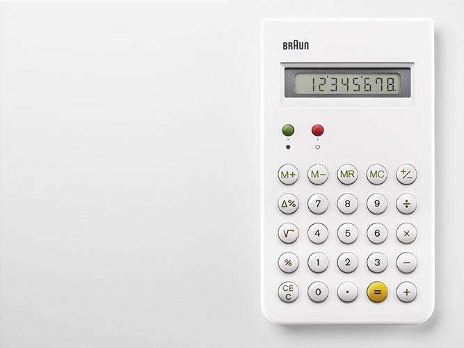 BRAUNの名作電卓「ET66」ホワイトモデル復刻版がついに発売?