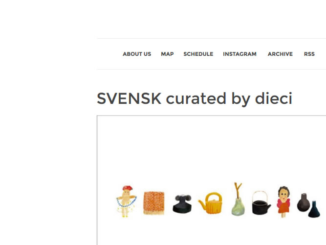 SVENSK curated by dieci