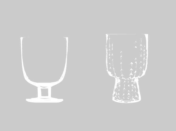 イッタラのグラス、50%オフと60%オフ