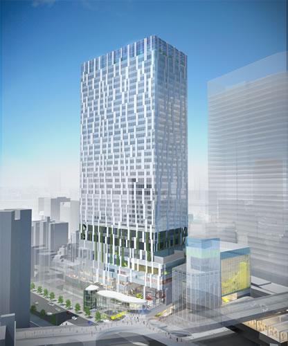 東横線渋谷駅のホーム跡地に35階建てビル