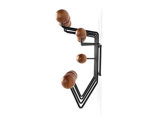 Eames Hang-It-All WALNUT_black