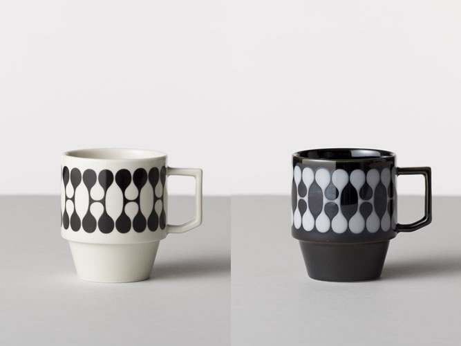 HOUSE-INDUSTRIES-HASAMI-Morning-Collection black white