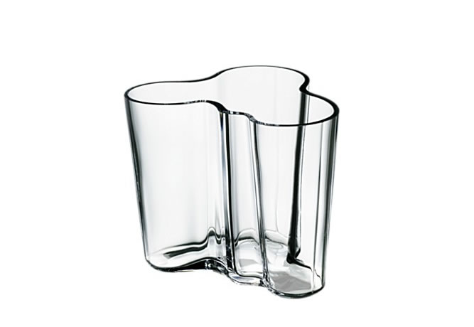 Alvar Aalto Collection Vase 95 mm clear