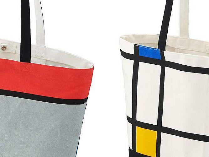 ユニクロ × MoMA、モンドリアン柄 のトートバッグ
