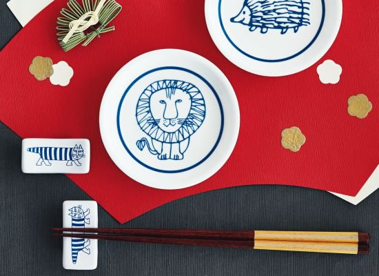 雑誌『GLOW』の付録に「リサ・ラーソンの豆皿&箸置き2客セット」