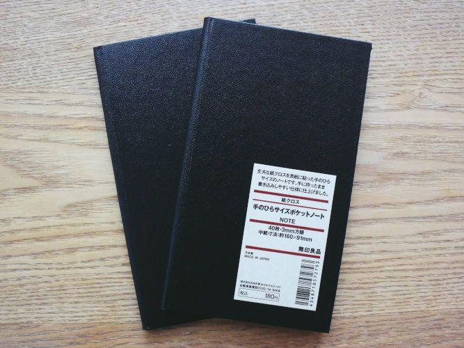 MUJI Tenohira Size Pocket Note_001