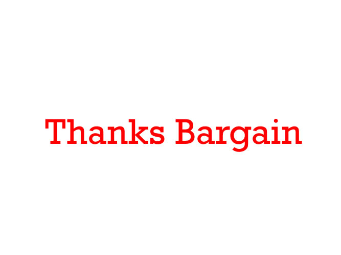 Thanks Bargain_001
