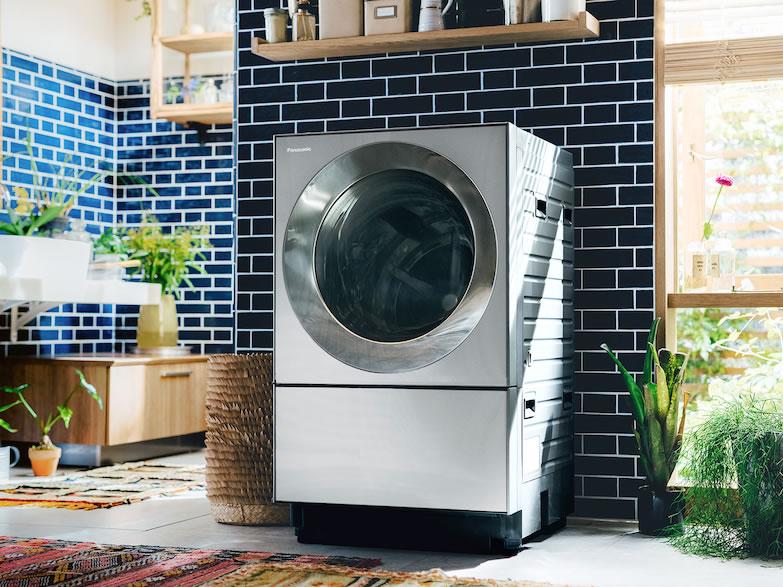 かっこいい…業務用っぽいステンレスのドラム式洗濯機