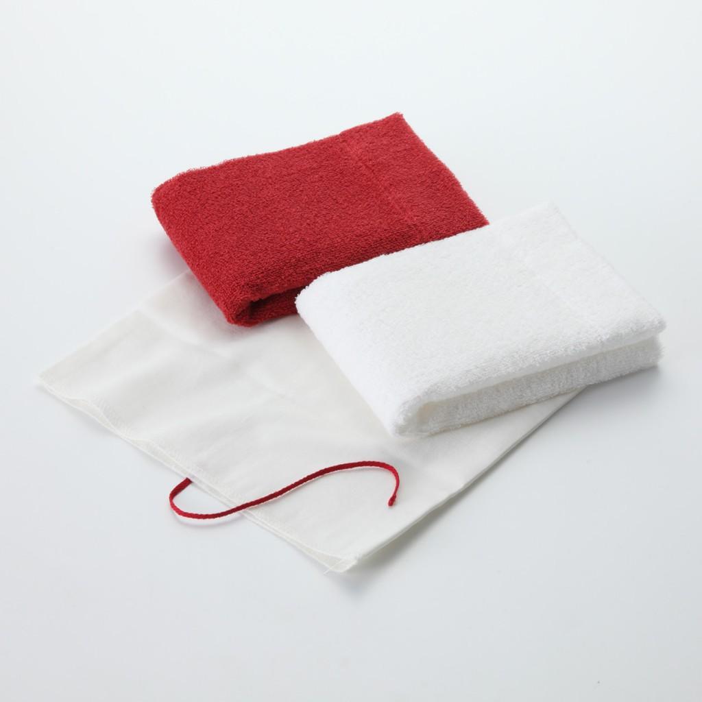 数量限定!無印良品の紅白タオル
