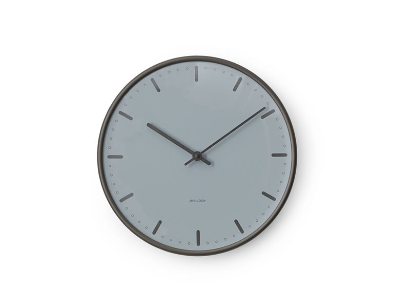 AJ Wall Clock CityHall Royal Blue_002