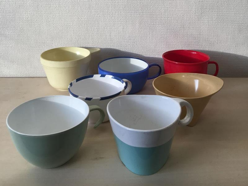 航空会社のカップを集めた企画展「Airplane Cups 展」