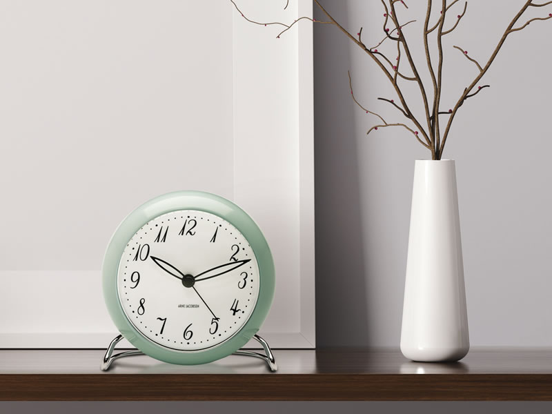ARNE JACOBSEN TABLE CLOCK LIMITED EDITION ICEBLUE_003