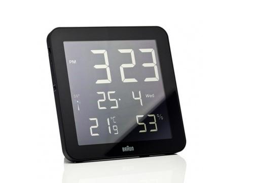 Braun Digital Wall Clock   Black