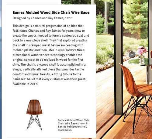 Eames Molded Woos Side Chair Wire Base 2
