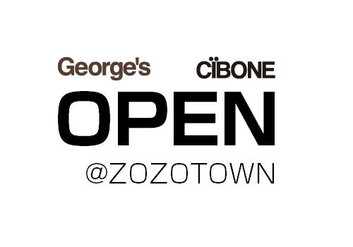 George  s CIBONE OPEN at ZOZOTOWN