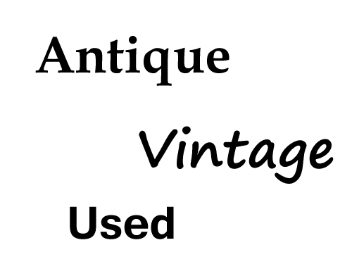 antique or vintage
