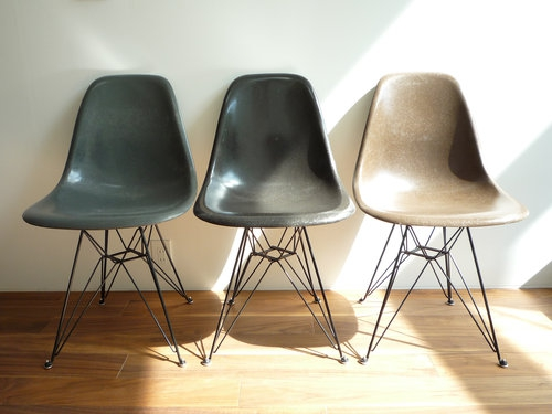 eames shell side chair dsr005