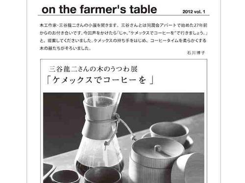 三谷龍二さんの木のうつわ展「ケメックスでコーヒーを」開催