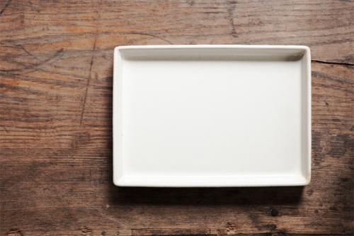 小久慈焼の角皿2