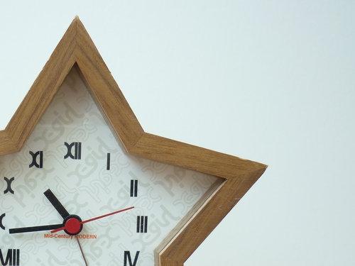 mid centurymodern xgirl star clock 001