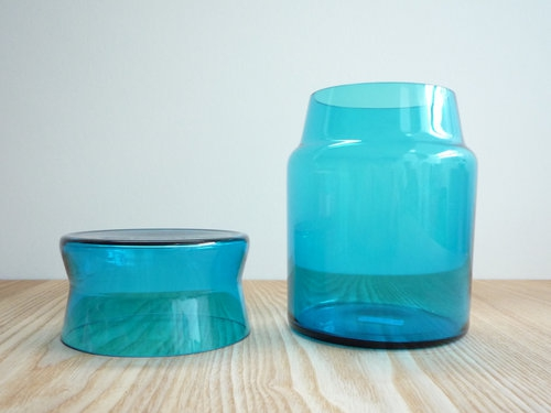 もみじ市で買った青い瓶 3