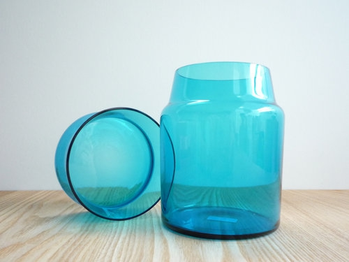 もみじ市で買った青い瓶 4