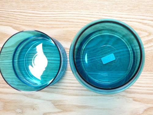 もみじ市で買った青い瓶 5